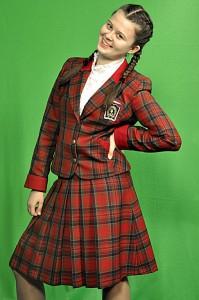 Красный клетчатый костюм