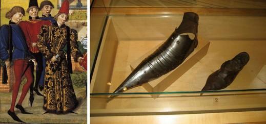 Пулены в живописи и элемент доспеха, выставленный в музее