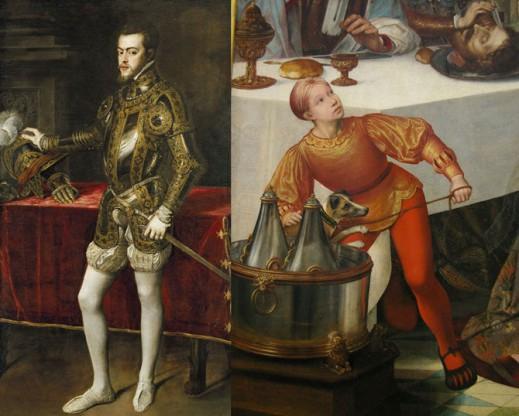 Портрет Филиппа II; фрагмент живописного изображения.