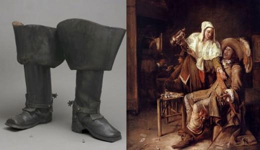 Ботфорты из музея; картина питера де Хоха «Пустой стакан».