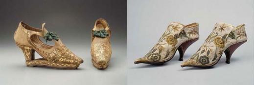 Предположительно итальянские туфли, примерно 1670 год