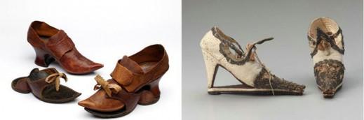 Туфли с подставкой