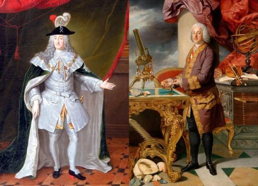 Мужские портреты первой и второй половины XVIII века