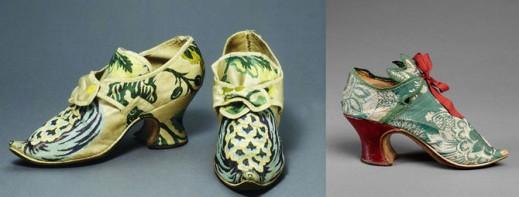 Туфли первой половины XVIII века