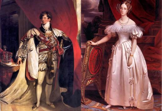 Томас Лоуренс «Портрет Георга IV», 1816; Портрет Луизы Орлеанской, 1830