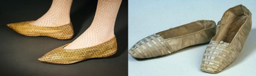 Европейские туфли, 1800 год; свадебные туфли королевы Виктории