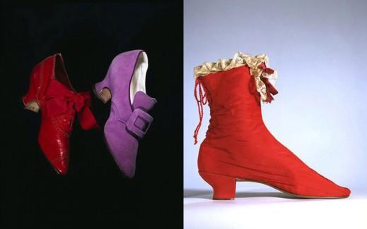Туфли, сделанные в 1900 году; ботинки, 1865-1875 гг
