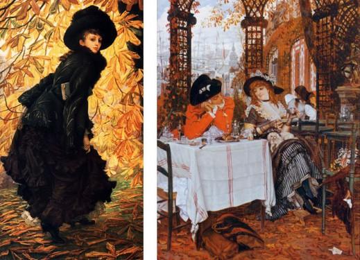 Джеймс Тиссо «Октябрь», 1877 г; «Завтрак», 1868г